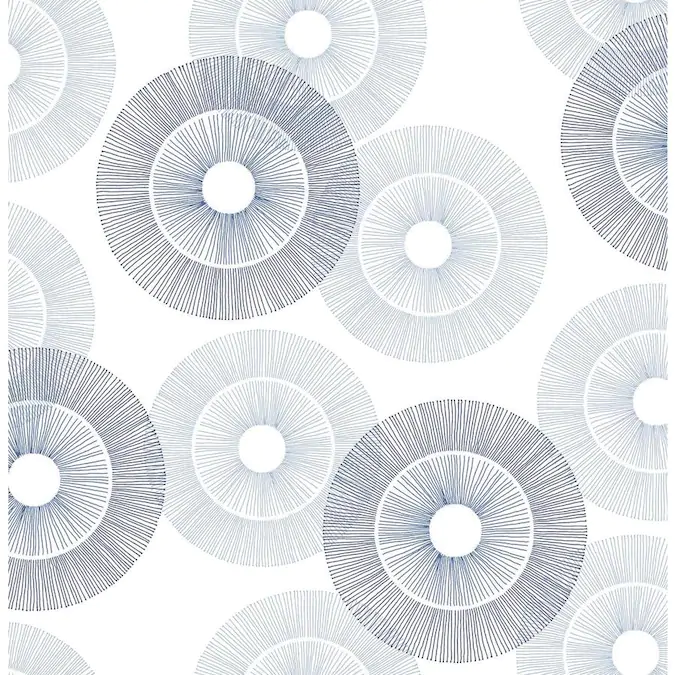 Scott Living 30 75 Sq Ft Blue Vinyl Geometric Self Adhesive Peel And Stick Wallpaper Lowes Com In 2020 Peel And Stick Wallpaper Wallpaper Roll Blue Vinyl