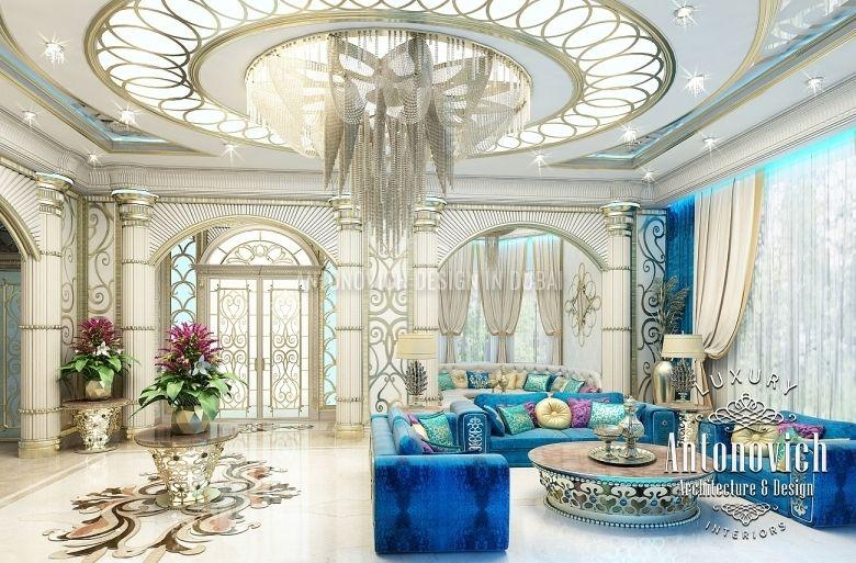 Living room design in dubai living room in oriental style for Arredamento case di lusso interior design