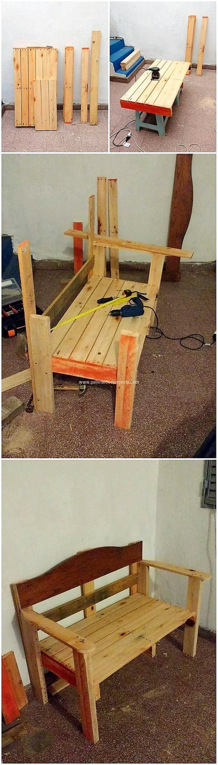 diy pallet bench wood pallet outdoor furniture diy on extraordinary ideas for old used dumped pallets wood id=65609