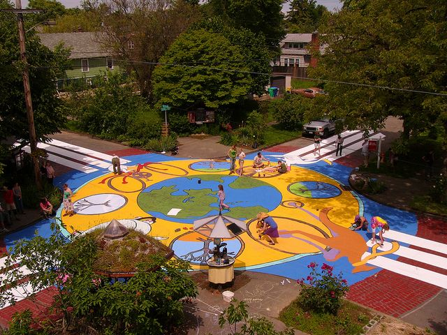 Planet Repair Institute Sellwood Pdx Or The Neighbourhood Painting Projects Street Painting