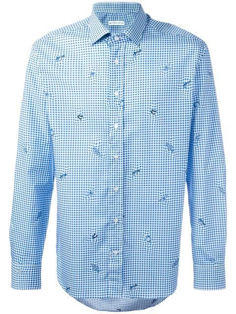 ETRO 피쉬 프린트 체크 셔츠. #etro #cloth #셔츠