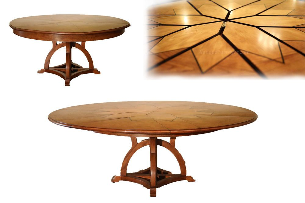 Details About Solid Walnut Arts And Crafts Expandable Round Dining