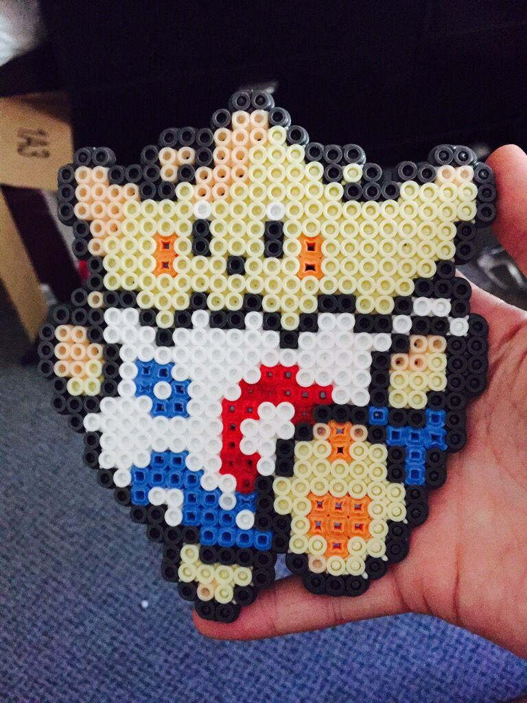 Togepi Pokemon Perler Beads Hama Fuse Beads Perler Bead Ideas