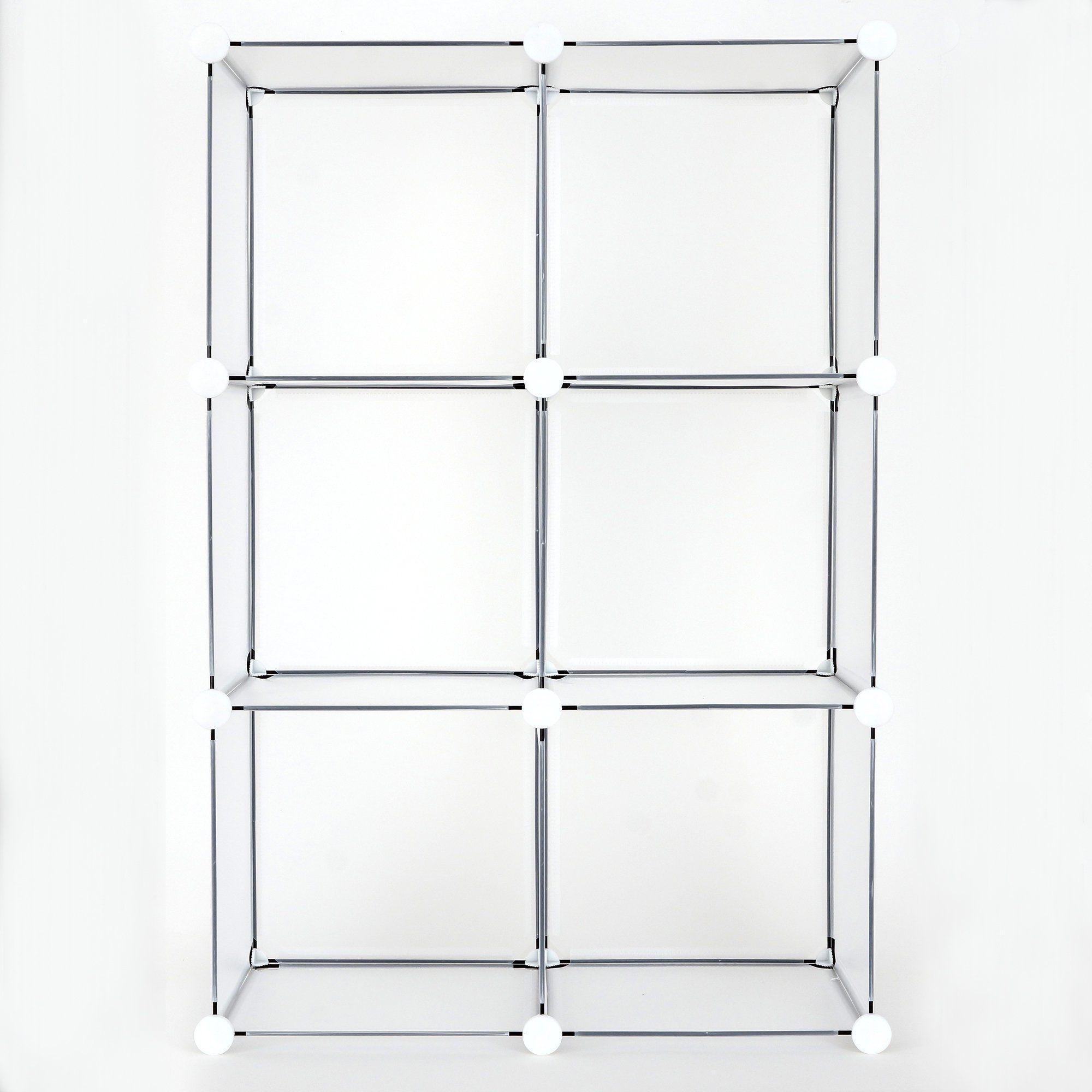 Achim Diy Modular Storage Unit 12x12x12 Clear Frost Walmart Com In 2020 Cube Organizer Modular Storage Cube Storage Bins