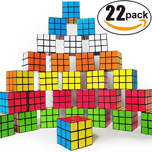 Amazon Com Mini Cube Puzzle Party Toy Eco Friendly Material With Vivid Colors Party Favor School Su School Supplies Puzzle Puzzle Party Birthday Goodie Bags