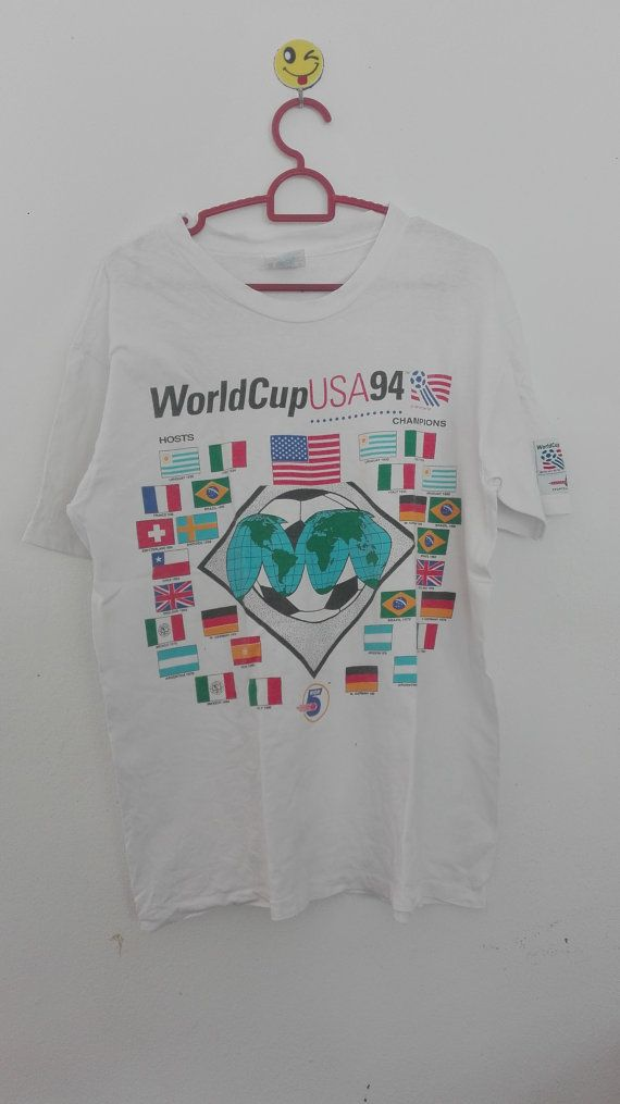 Vintage 1994 Soccer USA Medium Men t-shirt // hosts and champions // vintage fruit of the loom SxS6gV1m