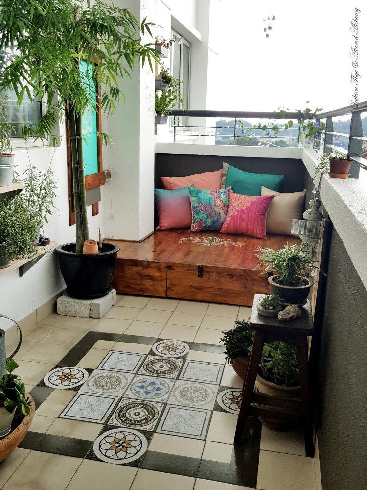 Diy Bohemian Balcony Makeover Apartment Balcony Decorating
