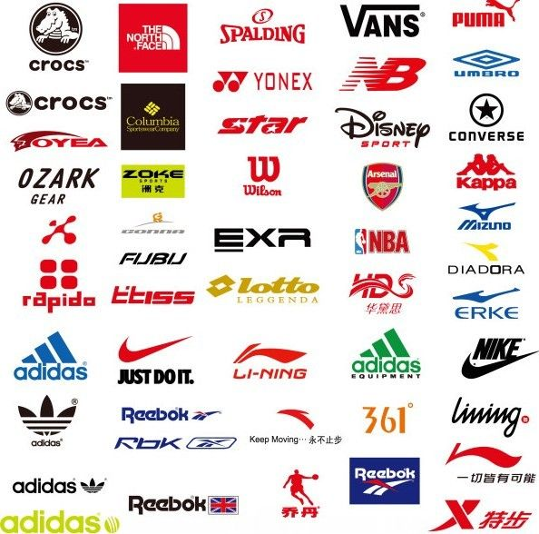 Most popular clothing logos Clothing brand logos, Sports