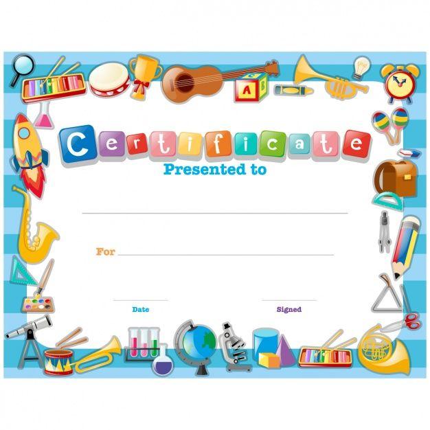 Childish certificate design wwwfreepik Дизайн Pinterest - certificate designs free