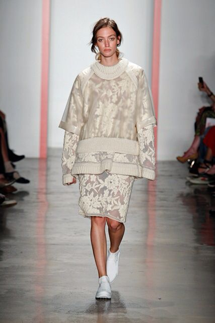 Embroidered Sweater Suit. HJK NYFW