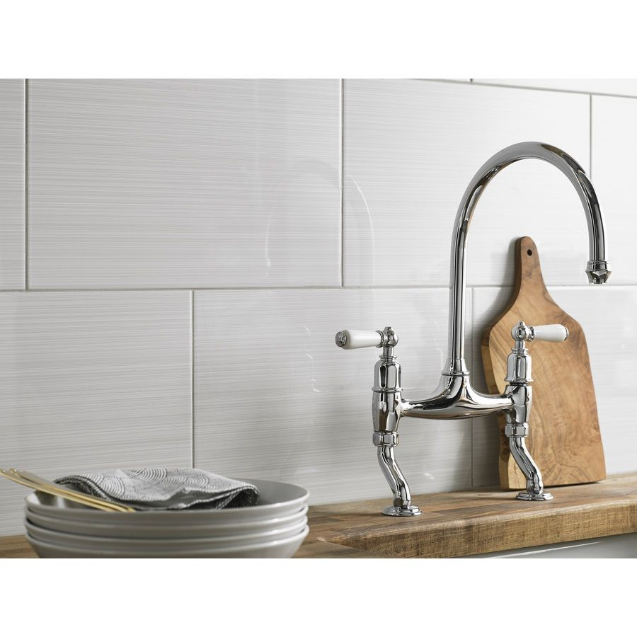 Shop Style Selections Blairlock White Ceramic Wall Tile (Common: 10 ...