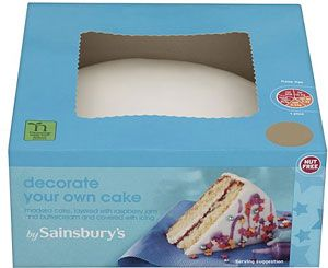 Sainsburys Decorate Your Own Cake