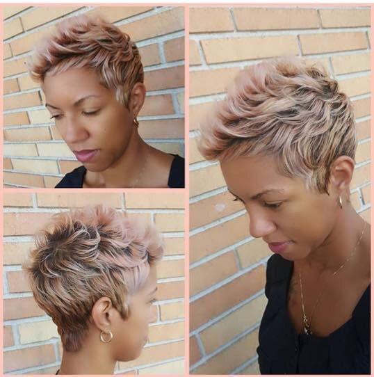Rose Gold Pixie Cut Beautiful U Pinterest Short Hair Styles
