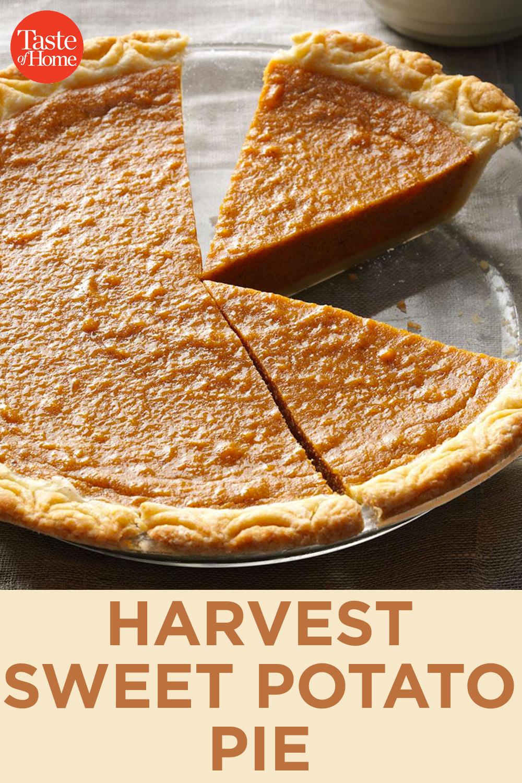 Harvest Sweet Potato Pie Recipe Sweet Potato Pie Sweet Potato Pies Recipes Vegan Sweet Potato Pie