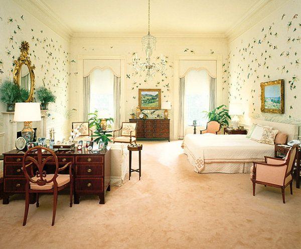 Master Bedroom Reagan he Reagan bedroom in 1981 looking south