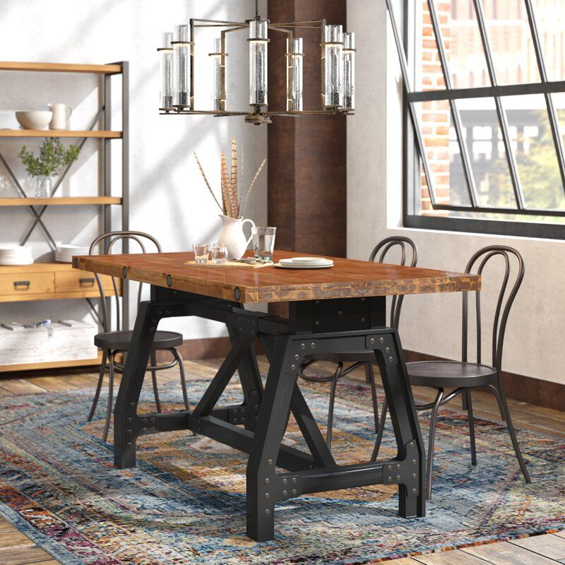 Caseareo Solid Wood Dining Table Dining Table Dining Room Industrial Dining Table In Kitchen