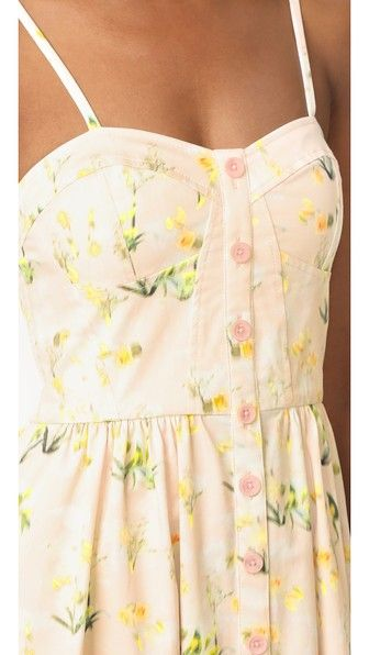 262ead260c22a Rebecca Taylor Sleeveless Firefly Floral Dress