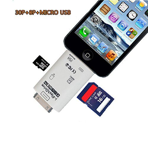 quite nice a89af 538e4 Lightning iFlash Micro SD Card Reader for iPhone 6/6s Plus 5/5S 4S ...