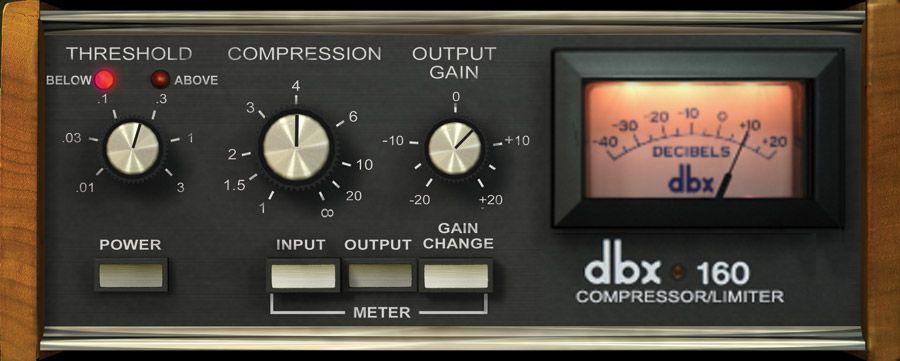 Dbx 160 Compressor Limiter Uad Audio Plugins Universal Audio Audio Compressor Recording Equipment