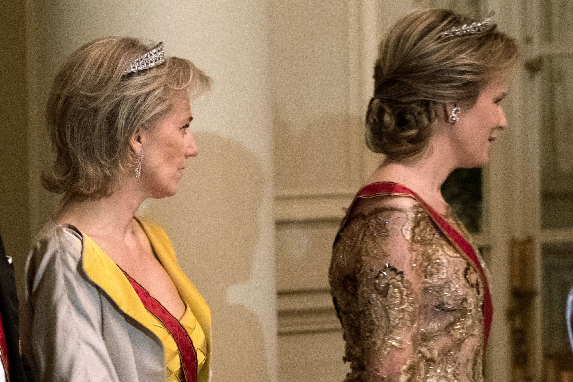 Princess Astrid with her sister-in-law, Mathilde