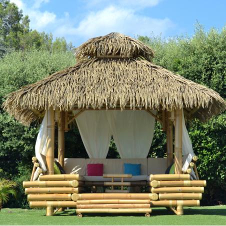 Gazebo Bambou Ou Paillote Bambou Salon De Jardin Pergola En Bambou De Grande Qualite Hydile Ngoai Trời Trang Tri