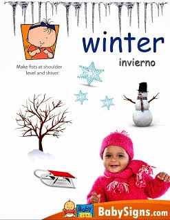 Desert Baby And Family Learn The Sign For Winter Baby Sign Language Book Baby Sign Language Sign Language For Kids