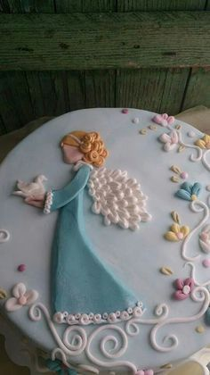 Beautiful girly Birthday cake Cake Ideas Pinterest Angel cake