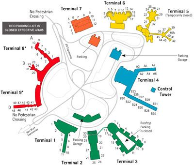 Jfk Airport Map Airport Map Airport Kennedy Airport
