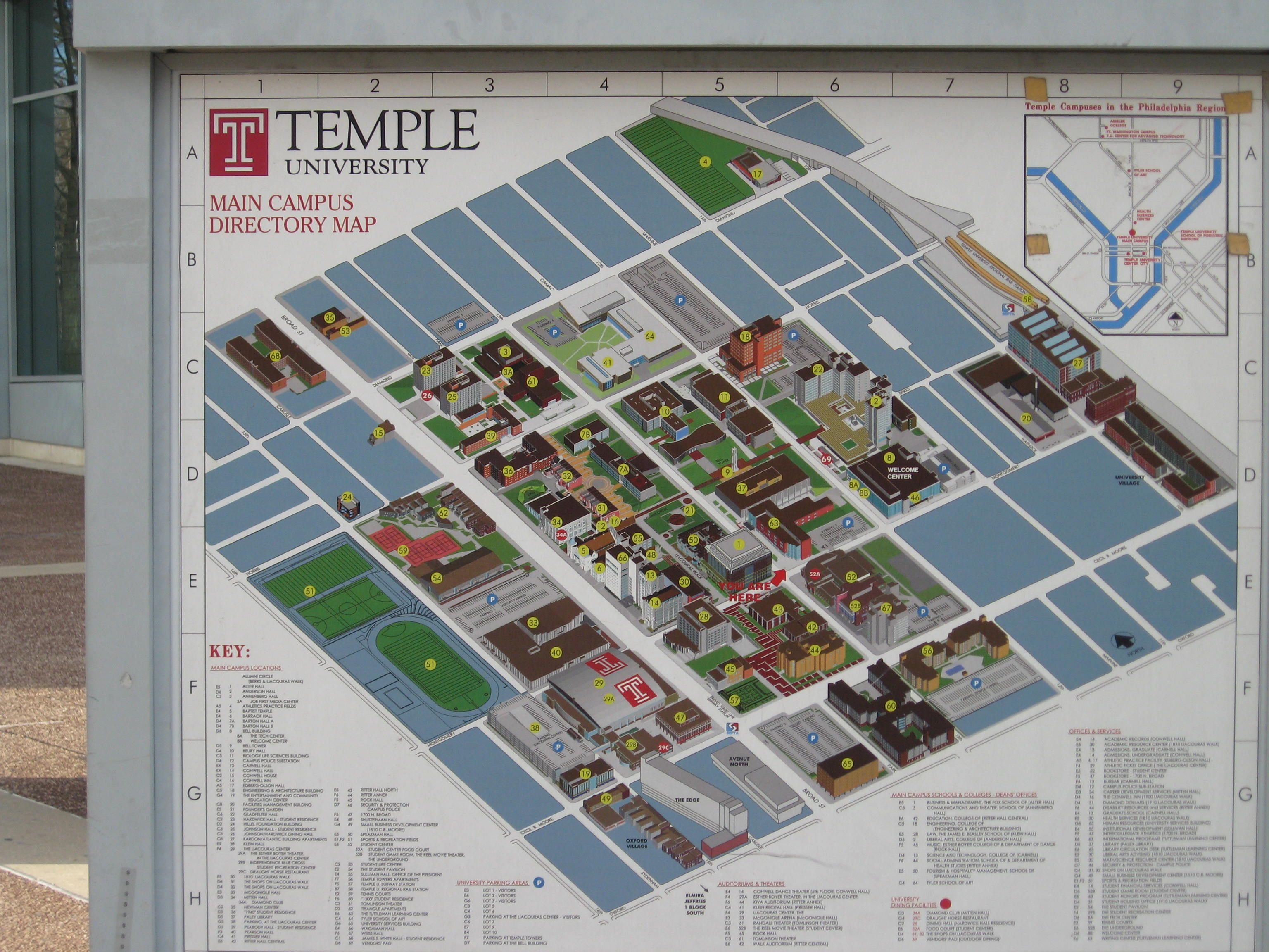 Campus Map Philadelphia Pinterest Campus Map Temple And