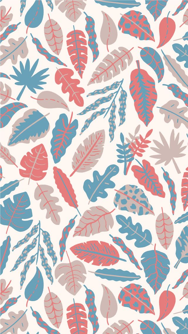 TAP AND GET THE FREE APP! Colorful Nature Pattern Leafs HD