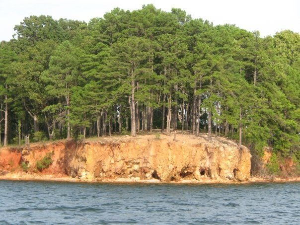 Our Favorite Stop - believe it or not that cliff is about 30 feet high - beautiful view when your up there - Lake Murray, Chapin, SC