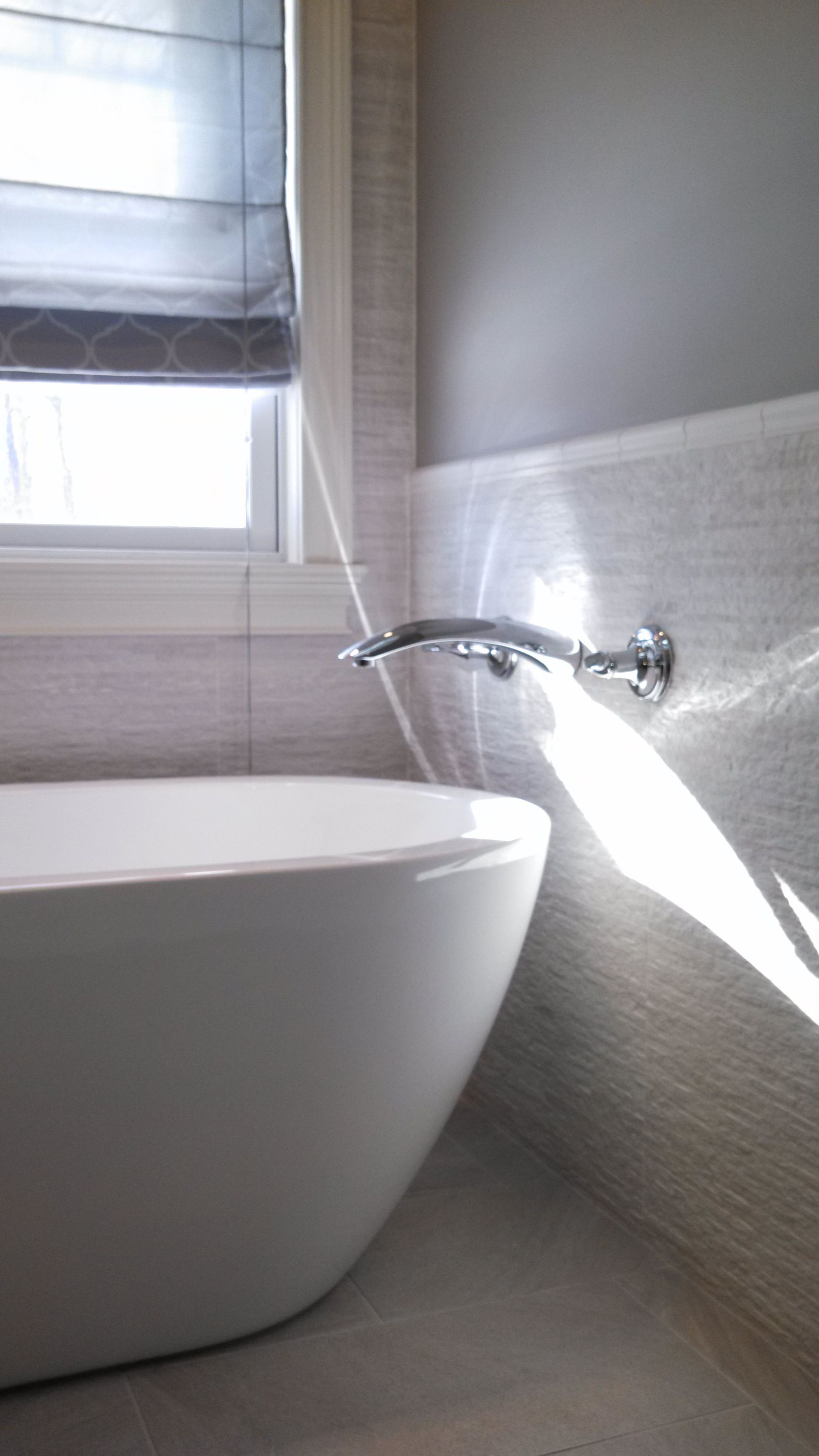 Designer Donna Triolo Mid America Tile Elk Grove Village Il Master Bathroom Floor Piemme Purestone Grey 12 X 24 Field With Mapei Ultracolor Warm