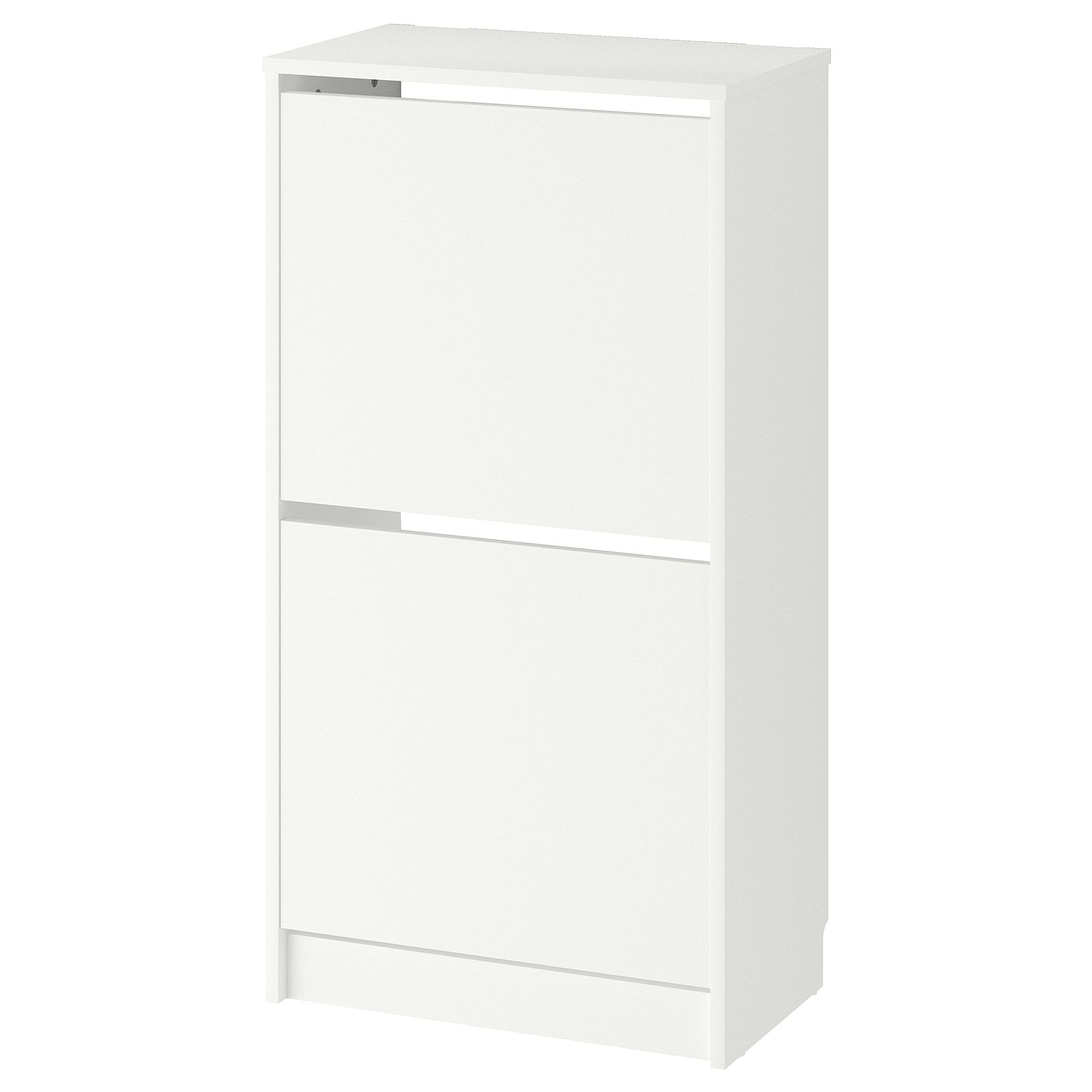 Ikea Bissa White Shoe Cabinet With 2 Compartments In 2019
