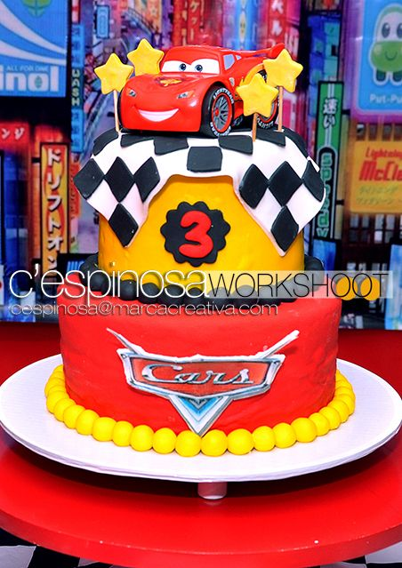 Cake At A Cars Party Carsparty
