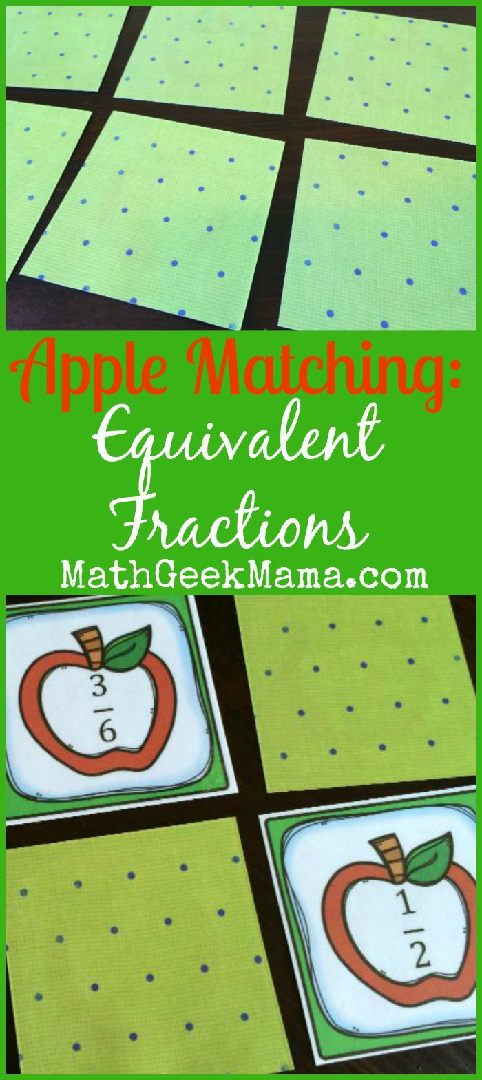 This is a photo of Resource Equivalent Fractions Games Printable