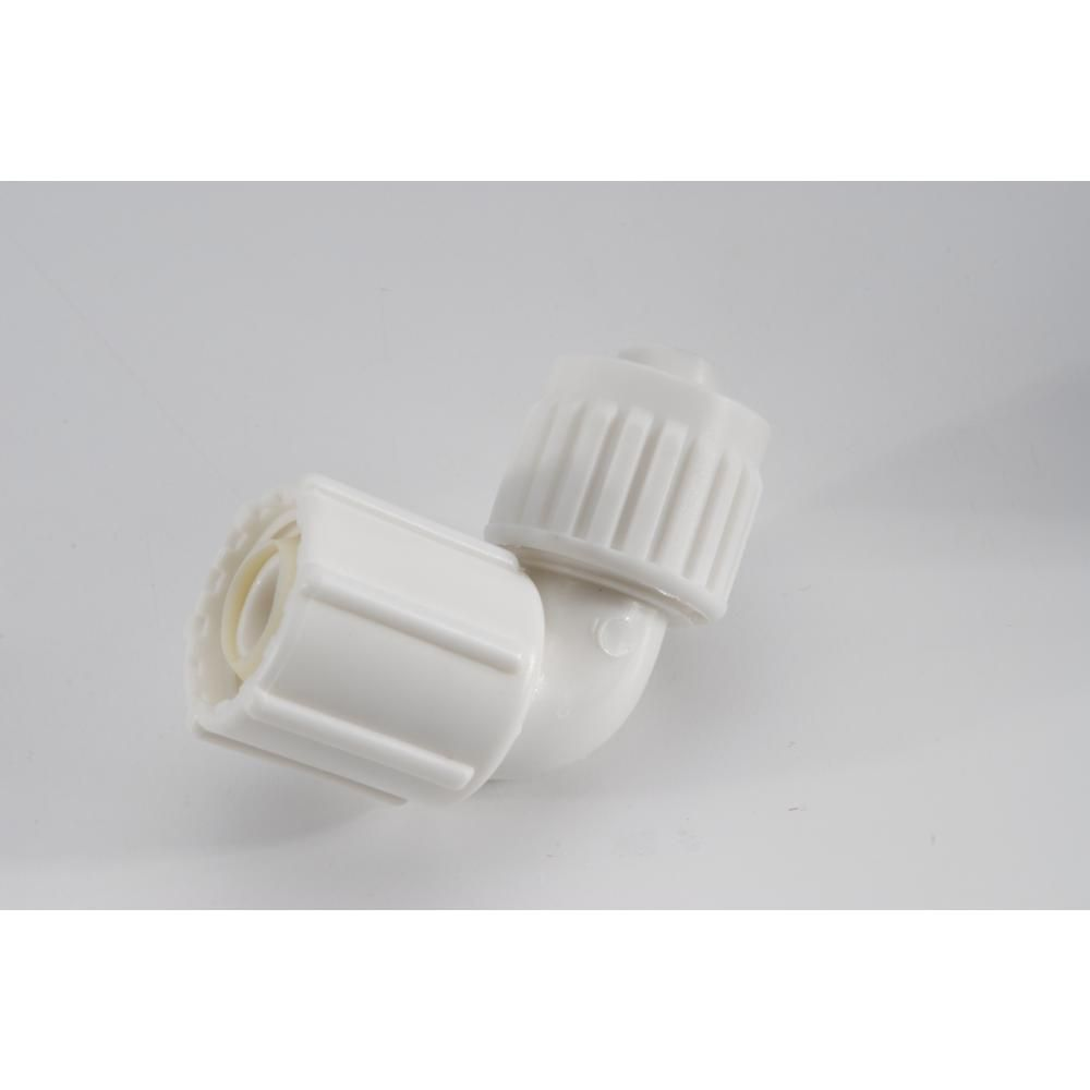 Flair It 1 2 In Plastic Pex Compression X Female Swivel 90 Degree Elbow Bsp White In 2020 Flair Swivel Compression