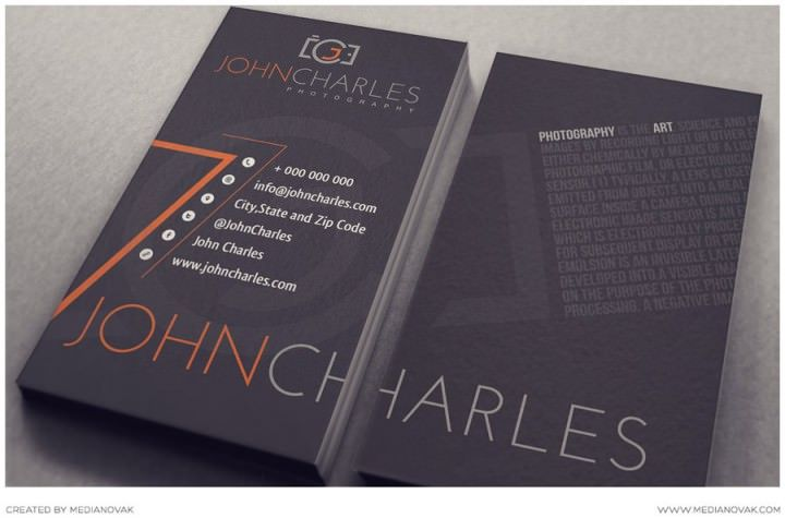 Photography Business Card Ideas 5 Awesome Examples