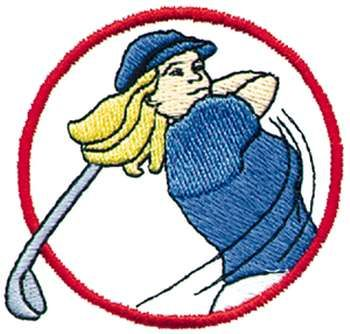 Cartoon golfer clip art