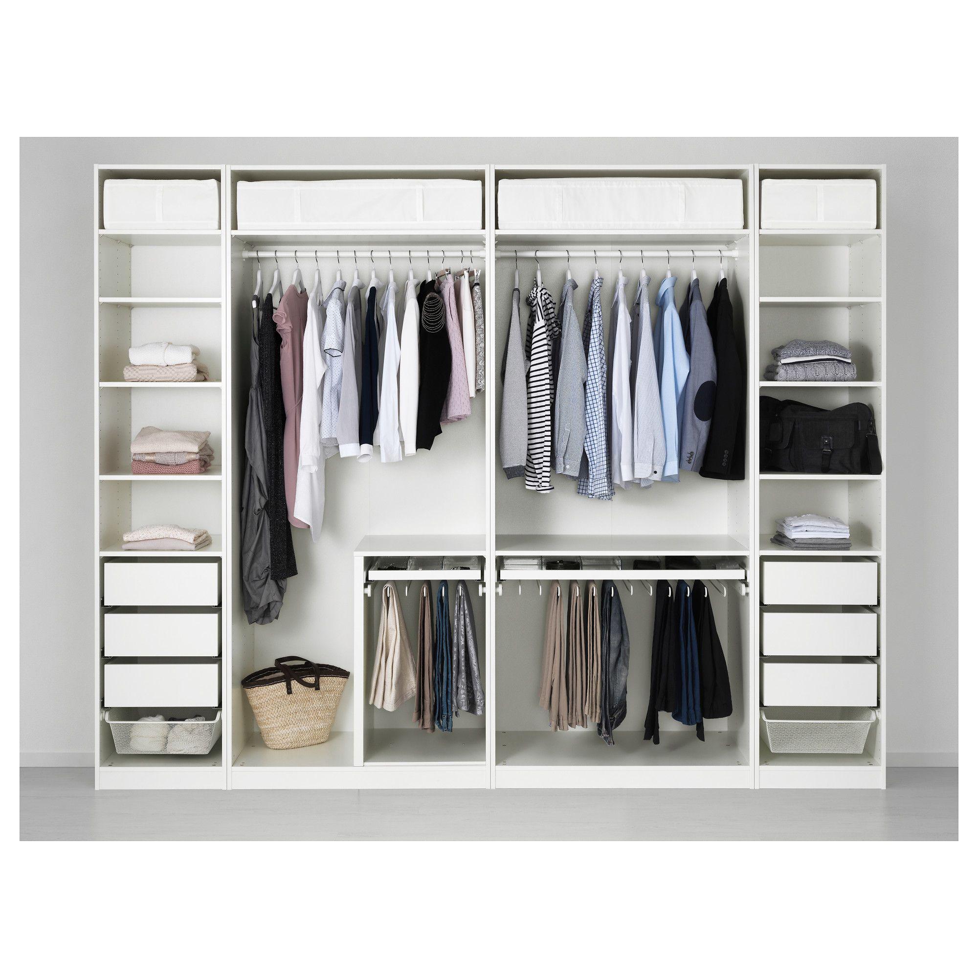 Zaawansowane IKEA - PAX Wardrobe white Tyssedal, Tyssedal glass in 2019 JB09