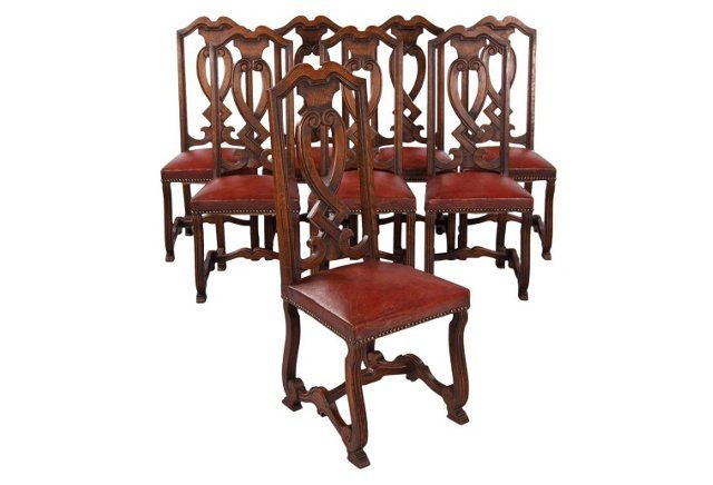 1940s Spanish Dining Chairs Set Of 8 Spanish Dining Chairs Dining Chairs Chair