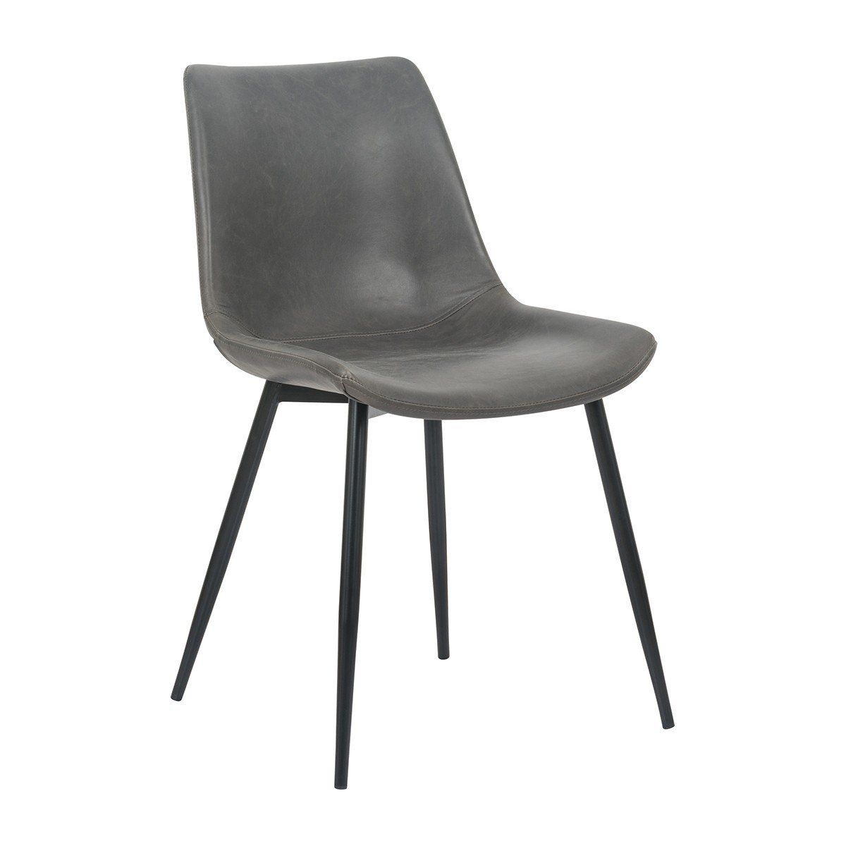 Harper Leatherette Dining Chair Grey Vintage Dining Chairs