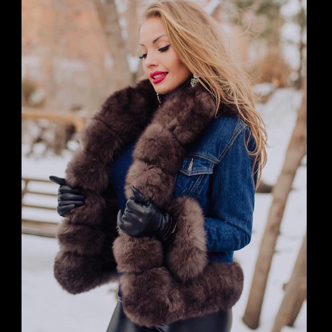 Real Mink Fur collar shawl for jacket or coat | Fur collars
