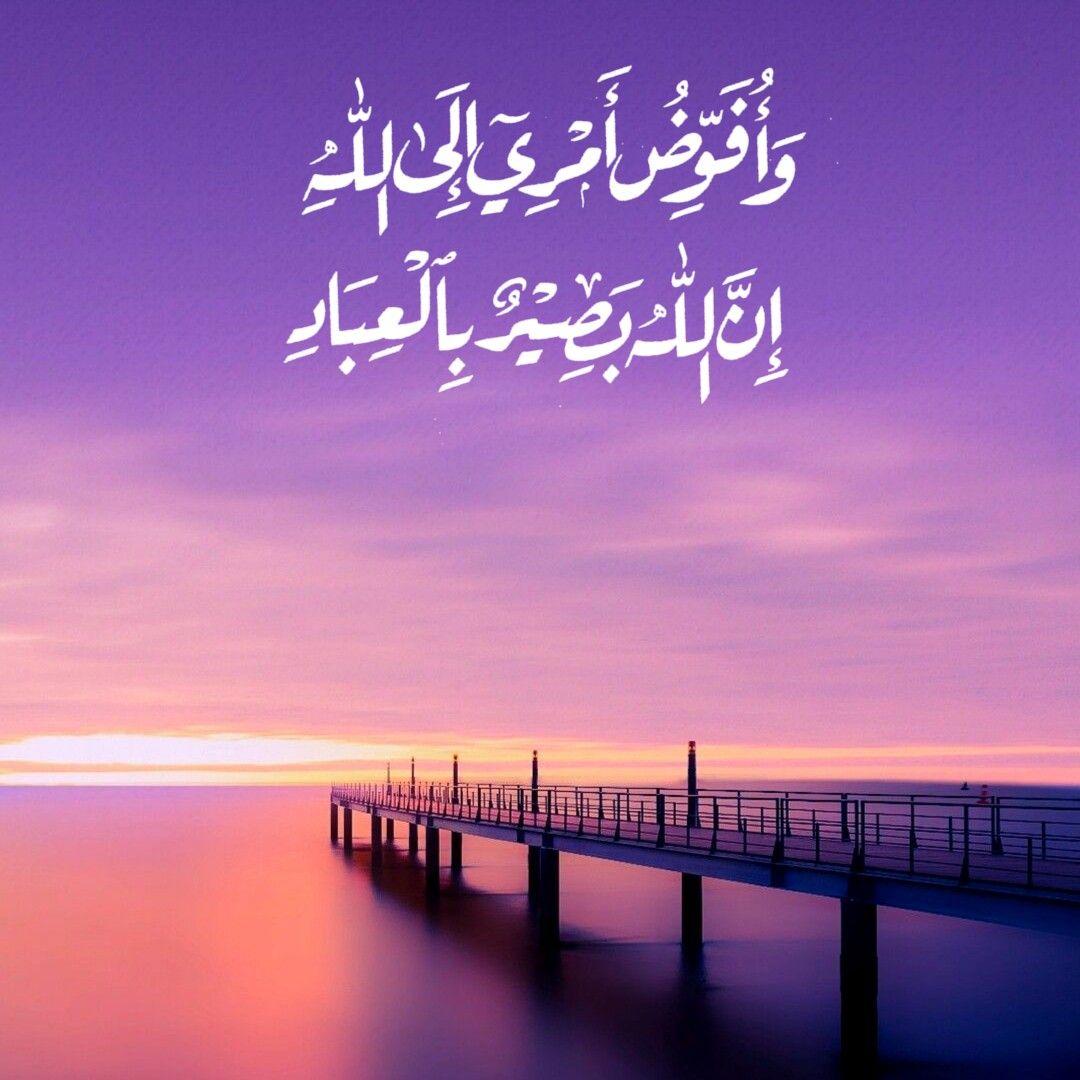 قرآن كريم آية و أ ف و ض أ م ر ي إ ل ى الل ه إ ن الل ه ب ص ير ب ال ع ب اد Prayer For The Day Duaa Islam Islam Hadith