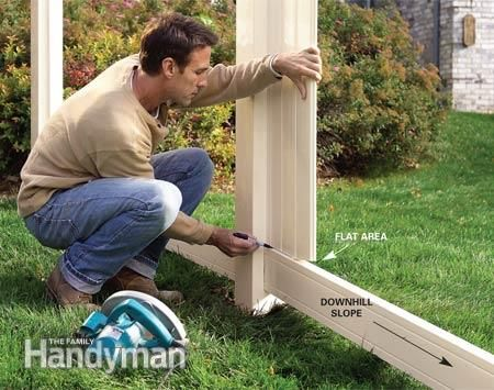 Installing A Vinyl Fence Backyard Fence Landscaping