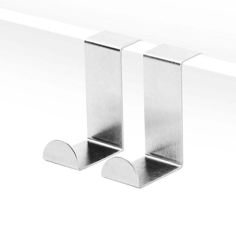 Hot Z Type Easy Over Door Hook Install Brushed Stainless Steel Double Head
