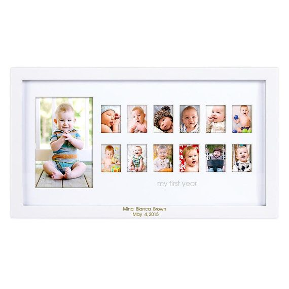 Baby S First Year Engraved Photo Frame Etsy Baby Picture Frames 12 Month Picture Frame Baby Frame