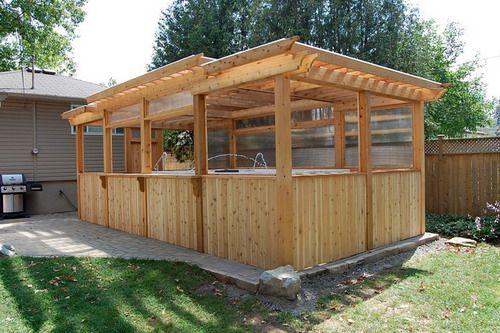 enclosed pergola with pool - Enclosed Cedar Pergola Outdoor Swim Spa Gazebo Ideas Ideas For