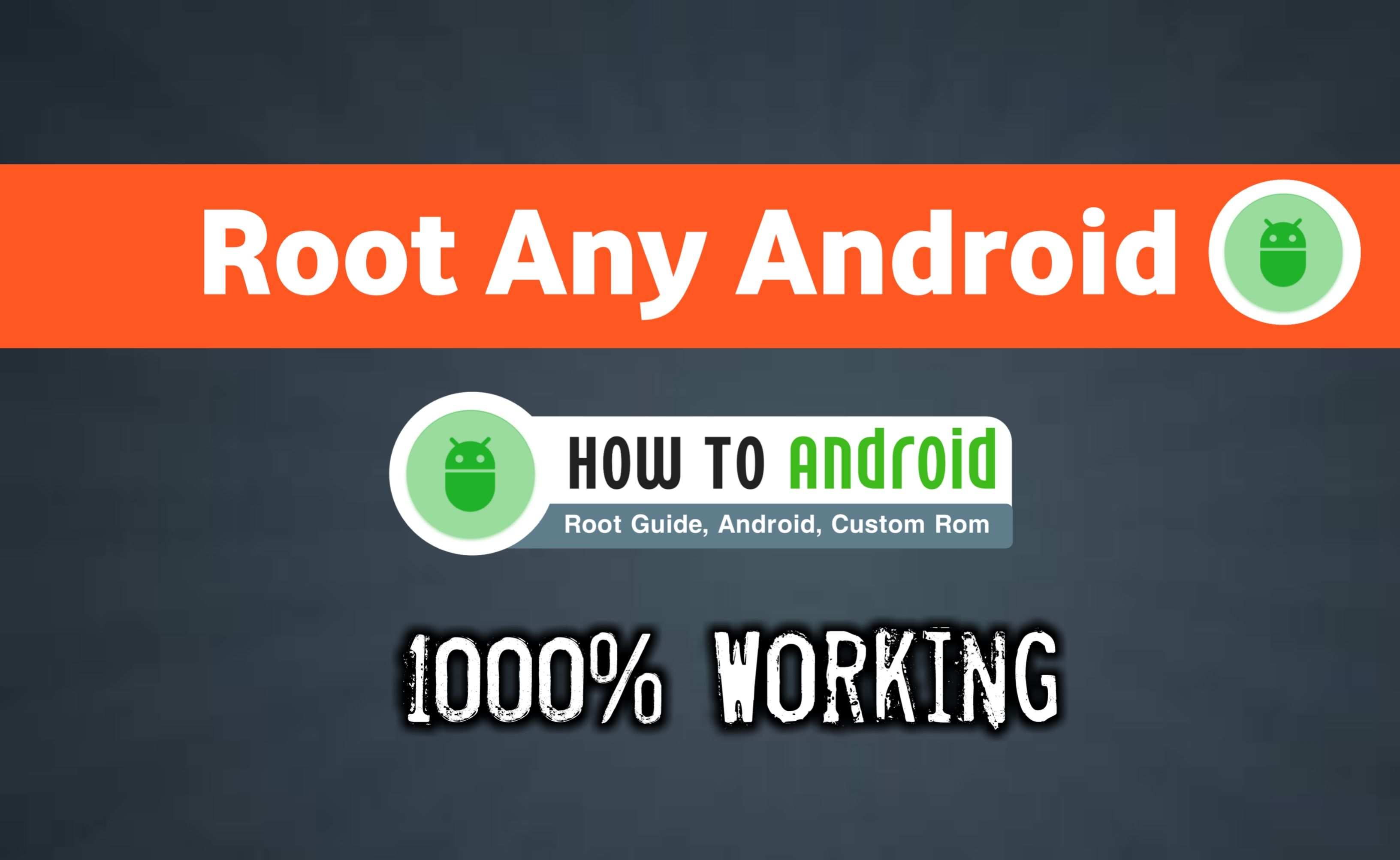 To root Android Os without using any PC you need an Android