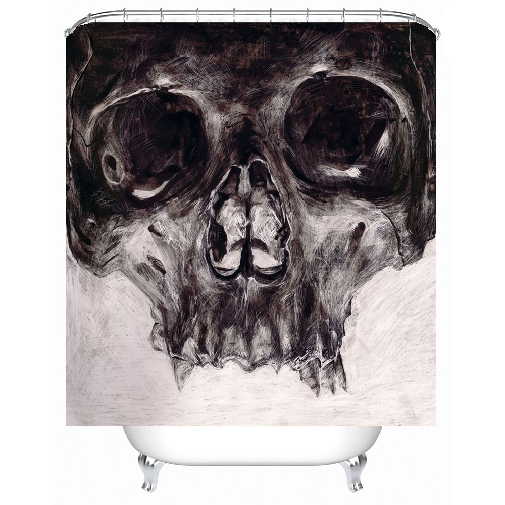 Shower Curtain Death Terror Skull Printed Waterproof Polyester Bath Curtain Bathroom  Accessories 180x180cm Curtains Decoration