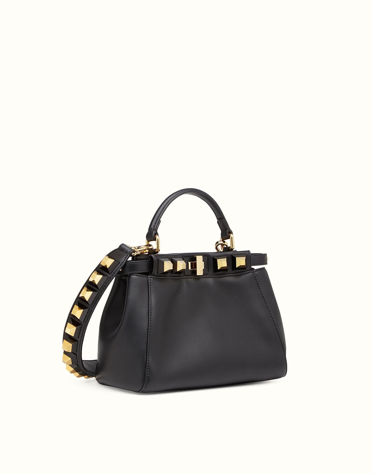 0c2a34497d FENDI MINI PEEKABOO - nappa handbag with studs